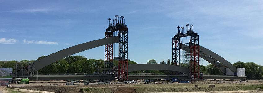 Railway bridge project in Amsterdam