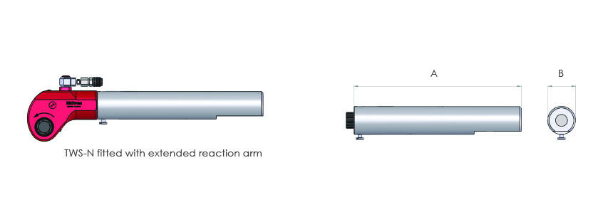 Allen hexagon drive adaptors and extended reaction arms