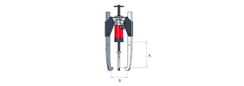 Auto-centre hydraulic puller kits