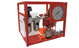 Bolt tensioner pumps, hoses, hose reels, couplers and bolt & nut protection caps. Air Driven Pump For Bolt Tensioners.