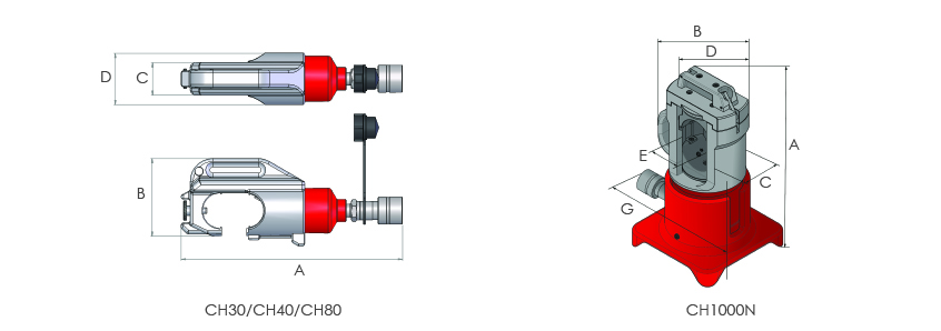 Cable crimping heads