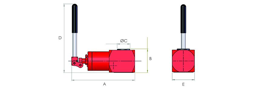 Compact Jacks - Solid Piston