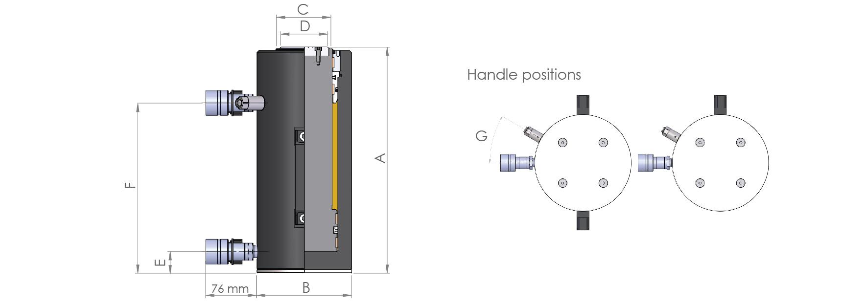 Double Acting High Tonnage Aluminium Cylinders