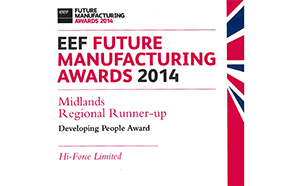 EEF Future Manufacturing Awards 2014 - Developing People Award
