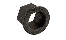 Hexagon reducer bushes. Metric size range.