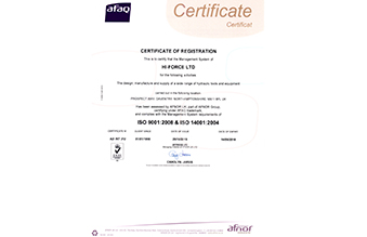 Hi-Force Limited ISO 9001