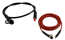 High Pressure Hydraulic Hoses - Black & Red