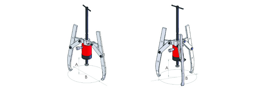 Hydraulic 2& 3 way puller kits