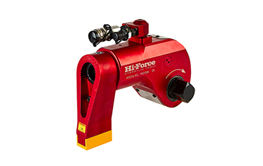 Hydraulic torque wrenches. Reversible square drive design.