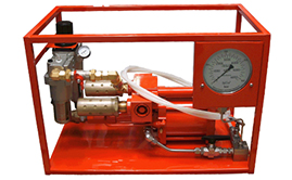 Hydrotest Pumps - air driven. High flow.