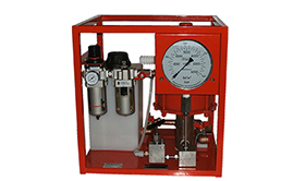 Hydrotest Pumps - air driven. Medium flow.
