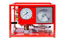 Hydrotest Pumps - air driven. Standard flow - with chart recorder.