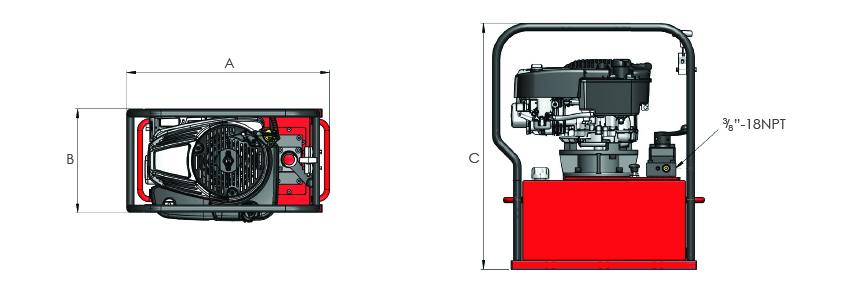 Petrol Engine Driven Pumps - General Duty High Flow