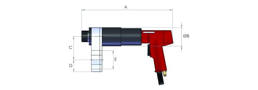 Pistol Grip Pneumatic Torque Multipliers