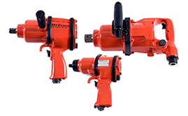 Pneumatic impact wrenches and filter, regulator, lubricator unit