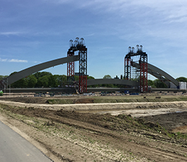 Railway Bridge Project in Amsterdam with Hi-Force cylinders