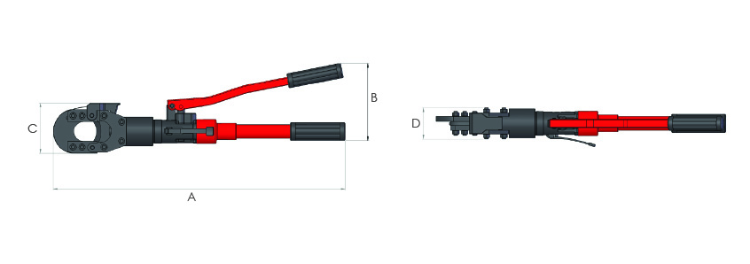 Self-contained hydraulic cutters