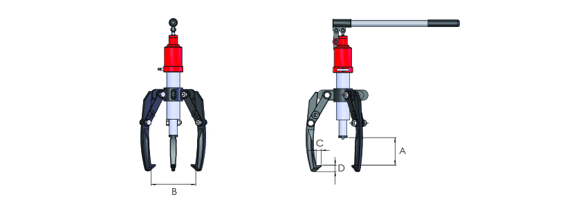 Self-contained hydraulic pullers