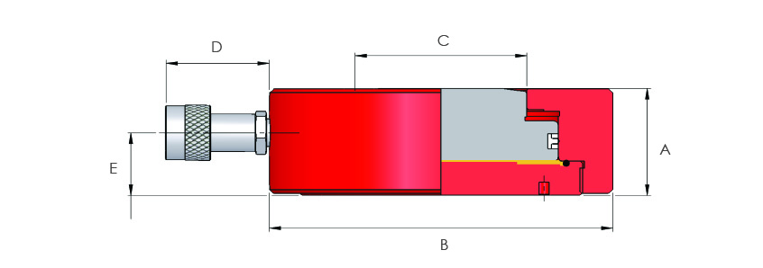Single Acting Very Low Height Pancake Cylinders