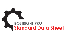 Standard data sheet for BOLTRIGHT PRO