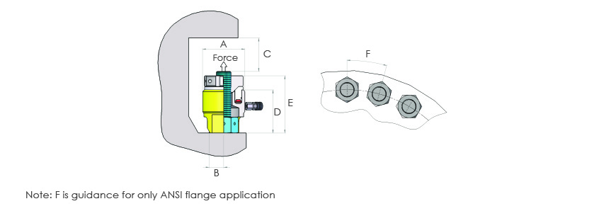 Sub-Sea Bolt Tensioners Metric Range