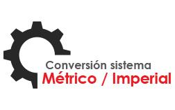 Tabla de conversión del sistema métrico al imperial