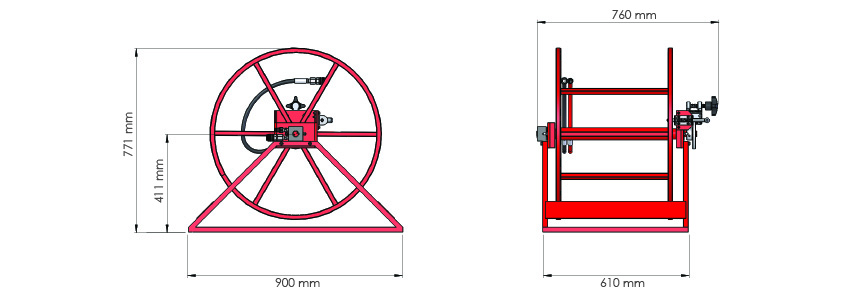 torque wrench hose reel